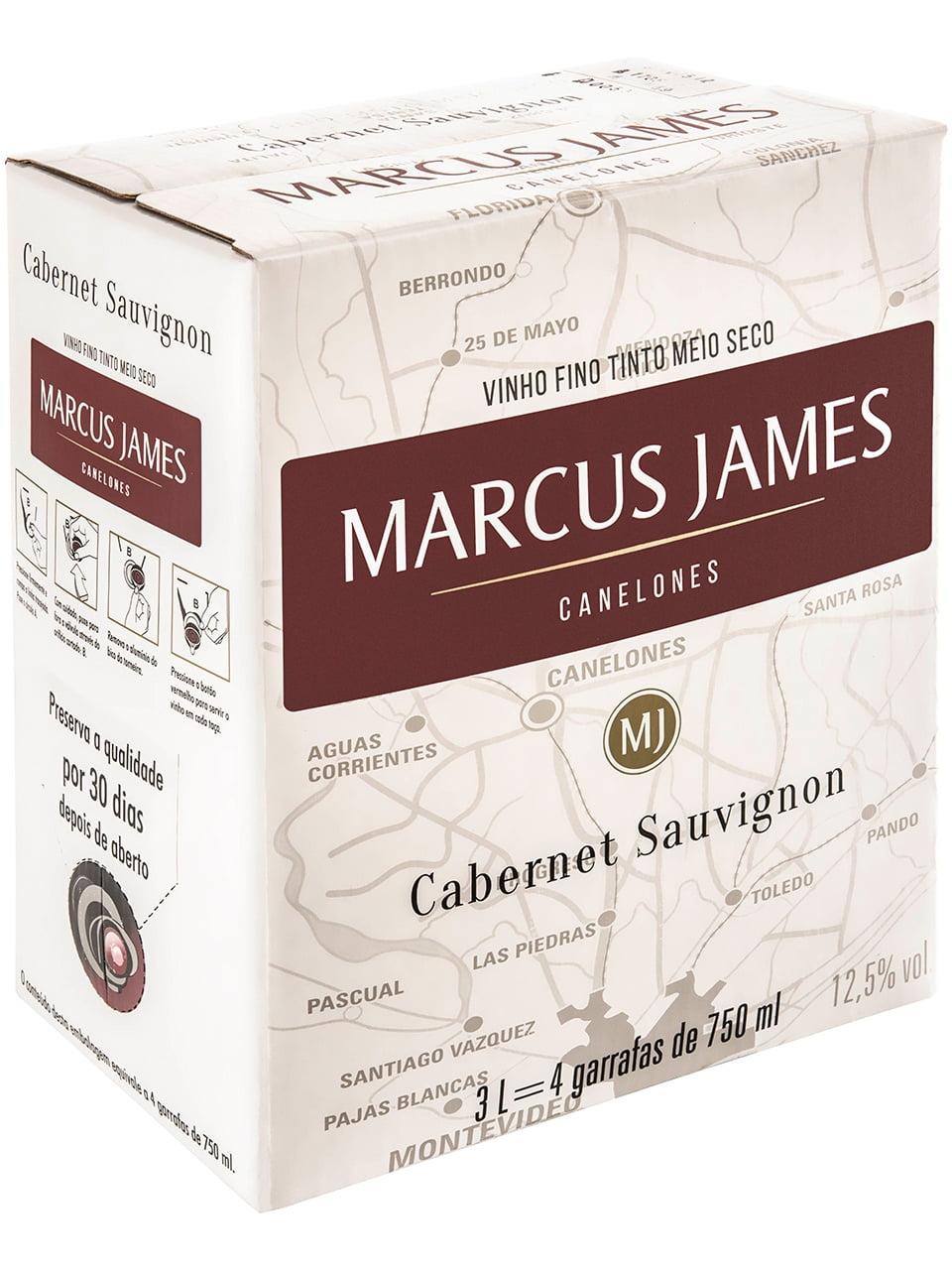 Vinho Marcus James Cabernet Sauvignon Tinto Demi-Sec 3000ml