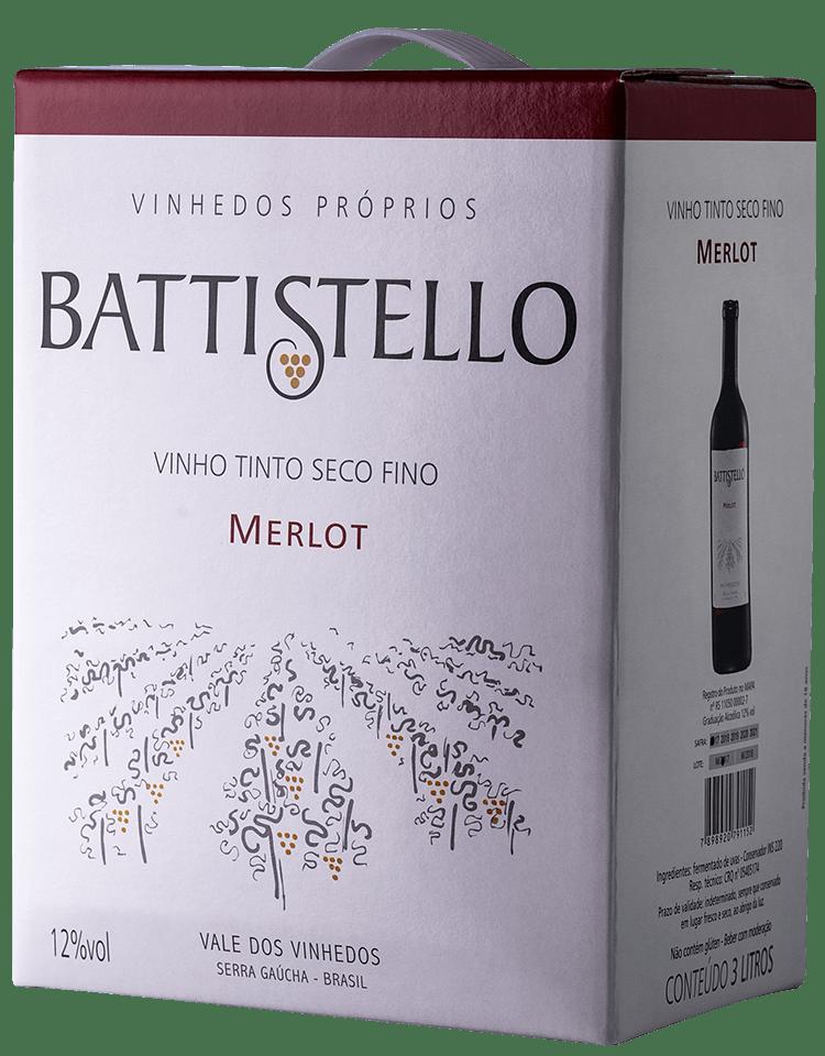 Vinho Battistello Merlot Tinto Bag In Box 3Lts