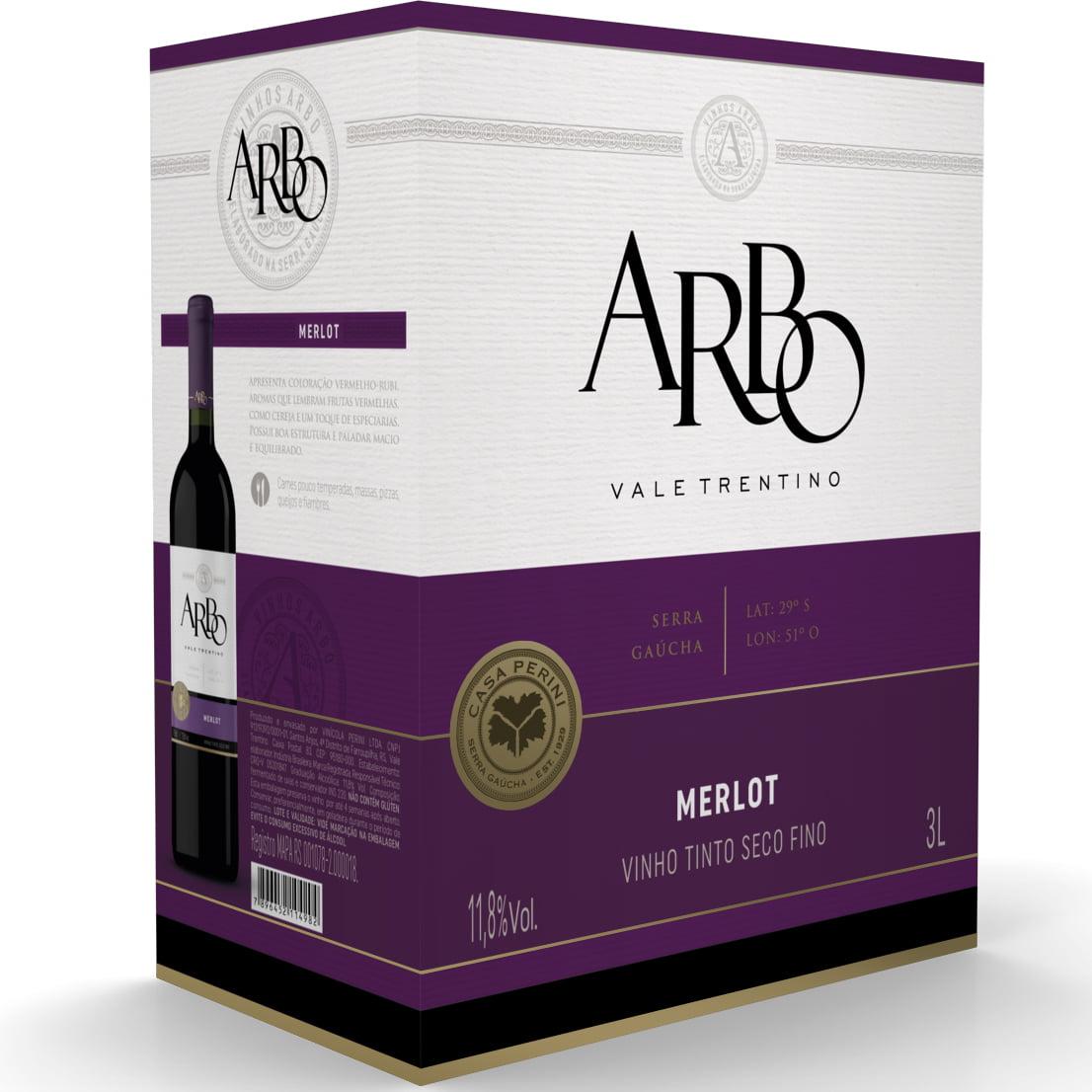 Vinho Casa Perini Arbo Merlot Tinto Bag in Box 3Lts