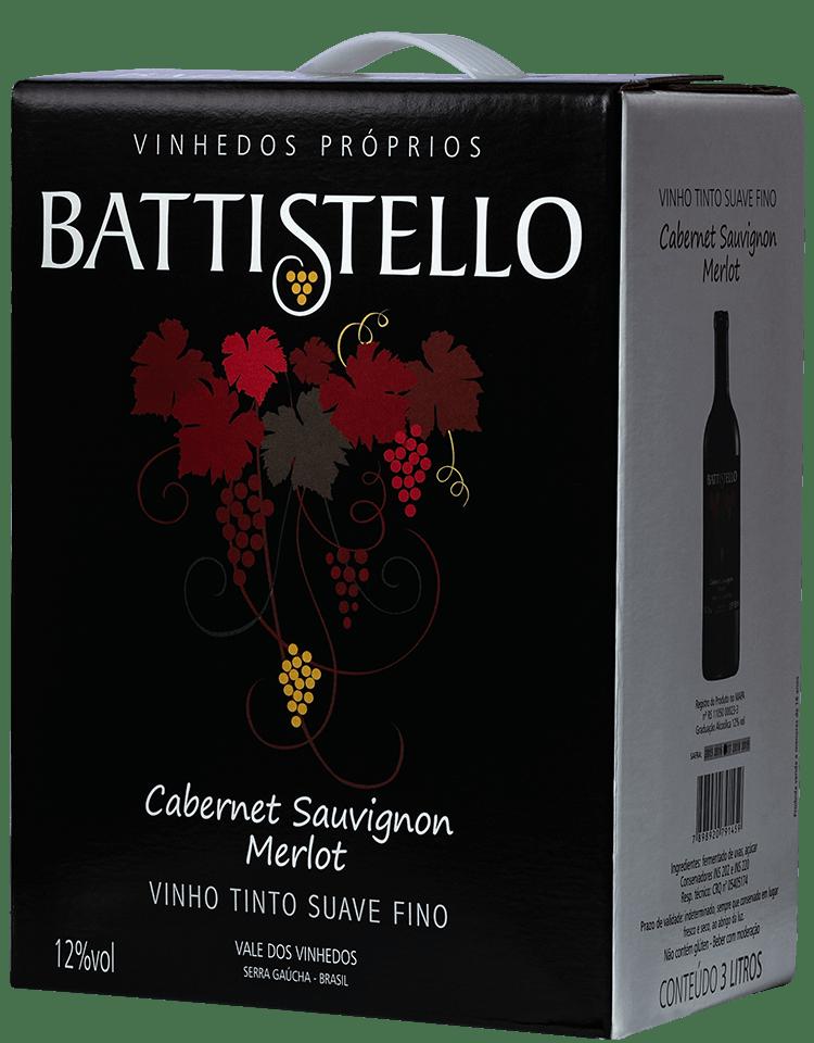 Vinho Battistello Cabernet Sauvignon/Merlot Rosé Suave Bag In Box 3Lts