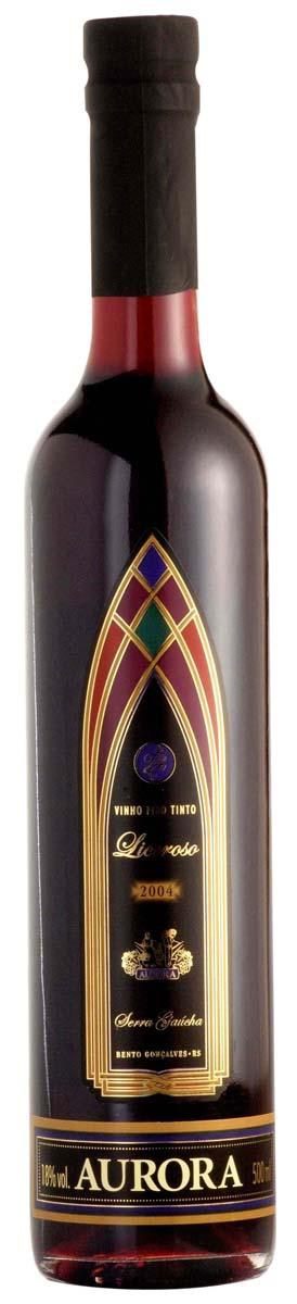 Vinho Aurora Licoroso Tinto 500ml