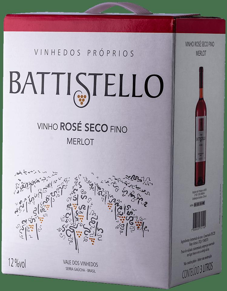 Vinho Battistello Merlot Rosé Bag In Box 3Lts