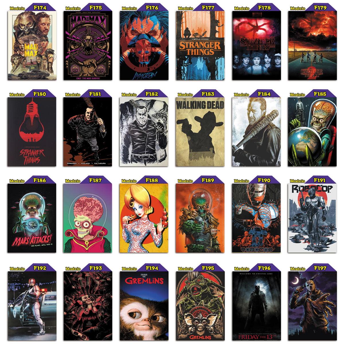 Placas decorativas de filmes