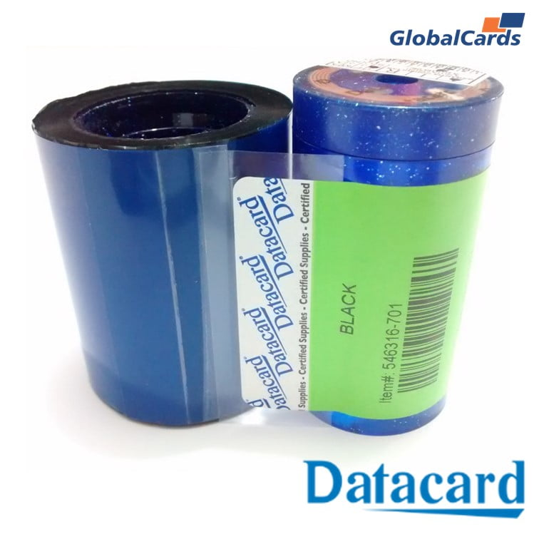Ribbon Datacard SP30 - Monocromático black 546316-701 - 1500 impressões