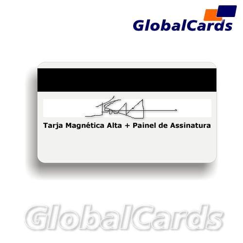 Cartão Magnético PVC c/ Tarja ou Banda Magnética de Alta com Painel de Assinatura - Globalcards Suprimentos