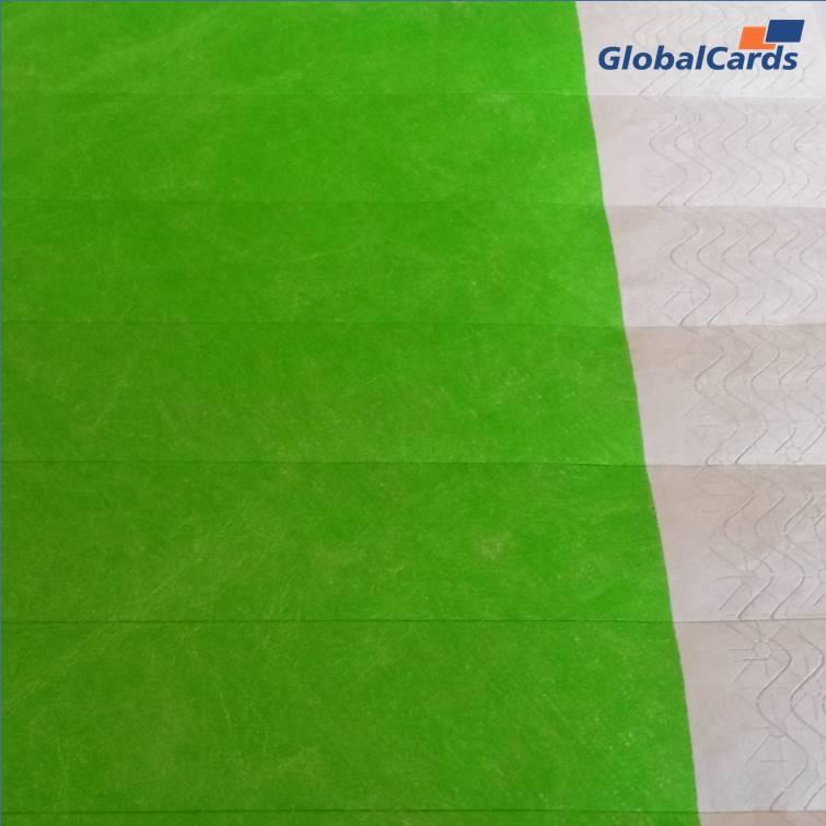 Pulseiras Identificação Eventos e Festas Tyvek Verde Fluor/Green (mínimo de 10)