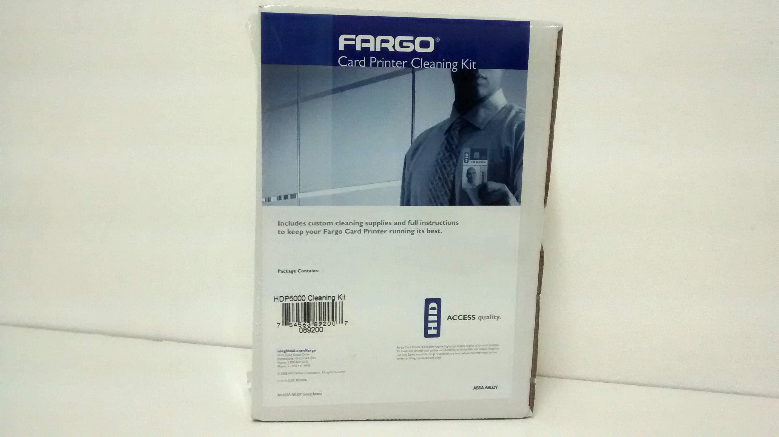 Kit de Limpeza Fargo 89200 - 4 cotonetes, 10 cartões tape, 10 lenços, 3 cartões HDP5000