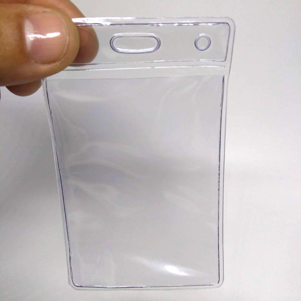 Bolsa de PVC Vertical 60x90mm interno 54x86mm (1 unid.)
