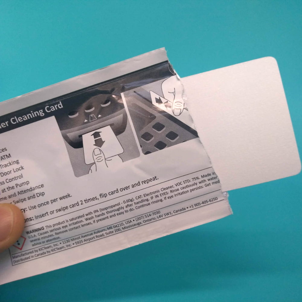 Cartão de Limpeza Curto - Thermal Printer cleaning card