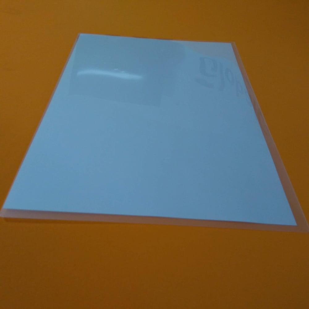 Polaseal Filme Plástico 220x307x0,05 (125micra) para A4