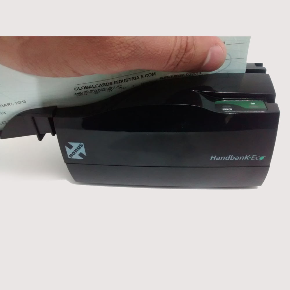 Leitor Semi-automático de Cheques HandBank Eco CMC-7 Modelo 20 - 010537