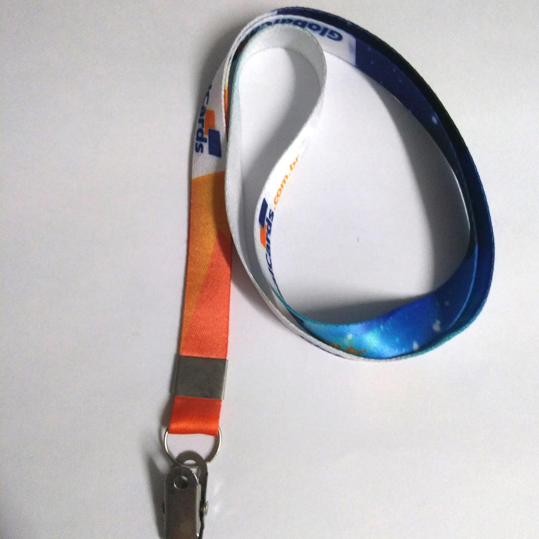 Cordão Digital 15mm para crachá c/ presilha clips jacaré (mínimo de 10)