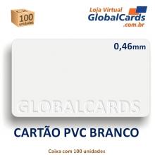 Cartão de PVC Branco 0,46mm CR-80 caixa com 100 unidades - Suprimento