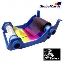 Ribbon Zebra 800017-240BR YMCKO (Color) 200 imp. P100i, P110i e P120i substitui o 800015-940BR