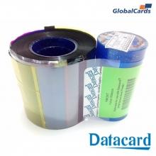 Ribbon Datacard SP30 Plus YMCKT 546314-701 color - 500 impressões