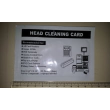 Cartão de Limpeza CR-80 Terminal POS, ATM, - Head Cleaning Card Thermal Printer