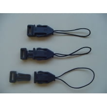Acabamento Pen drive preto (plástico) para cordão crachá (Cento)
