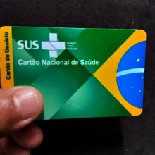 Cartão  SUS em PVC 0,76mm 4x4 Cores Impressão Colorida - Ped Mínimo 3