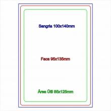 Comanda para restaurante em PVC 0,76mm 4x4 cores tamanho 9,5 x 13,5cm