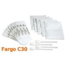Kit de Limpeza Fargo 85976 - 4 cotonetes , 10 cartões , 10 lenços, Persona C30