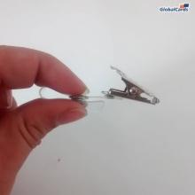 Clips Jacaré, Presilha, Clips para crachá com alça transparente (100 unid)