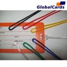 Alça de Etiqueta de Bagagem cordão de Silicone transparente  17cmx2mm - cx c/1000 unidades