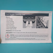 Cartão de Limpeza Curto - Thermal Printer cleaning card c/10