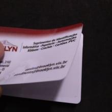 Cartão de PVC Branco 0,76mm CR-80 Adesivado caixa com  100 unidades