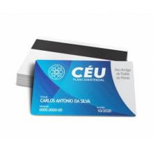 Cartão para Associado com Dados Variáveis PVC 0,76mm - 4x4 Cores (min 1000un)