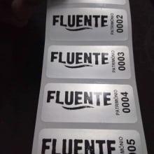 Etiqueta Adesiva Poliester Prata Cromo Patrimônio 46x20mm Personalizada (100 un)