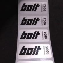 Etiqueta Adesiva Poliéster Prata 46x20mm para patrimônio com personalização