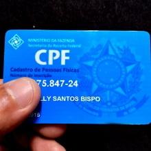 Cartão CPF em PVC 0,76mm 4x4 Cores Impressão Colorida