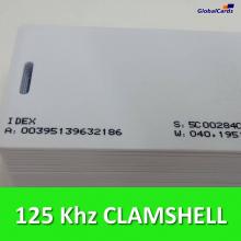 Cartão de Proximidade RFID 125Khz Branco p/  Acura CLAMSHELL (100 unidades)