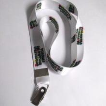 Cordão Digital 20mm para crachá c/ presilha clips jacaré (mínimo de 100)