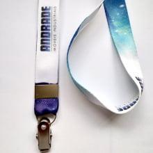 Cordão Personalizado Digital 20mm para Crachá com Presilha Clips Jacaré com mínimo de 100