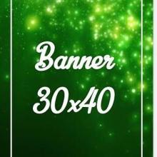 Banner Lona 280gr 30x40cm 4x0 cores