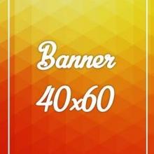Banner Lona 280gr 40x60cm 4x0 cores