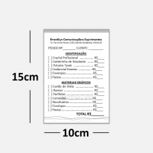 Blocos ou Comandas Sulfite 75g Preto Branco 10x15cm 1x0 cores c/ 50 blocos de 100 folhas