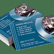 Cartão de Visita Couchê 300g Fosco Verniz Local 9x5cm 4x0 Cores com 3000 Unidades