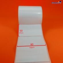 Etiqueta Adesiva BOPP 80x50mm x 1 coluna