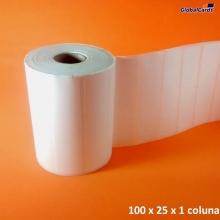 Etiqueta Adesiva BOPP 100x 25mm x 1 coluna