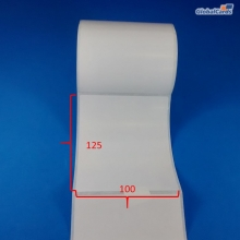 Etiqueta Adesiva Couchê 100x125mm x 1 coluna