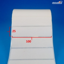 Etiqueta Adesiva Couchê 100x25mm x 1 coluna