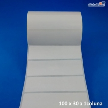 Etiqueta Adesiva Couchê 100x30mm x 1 coluna