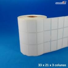 Etiqueta Adesiva Couchê 33x21mm x 3 colunas