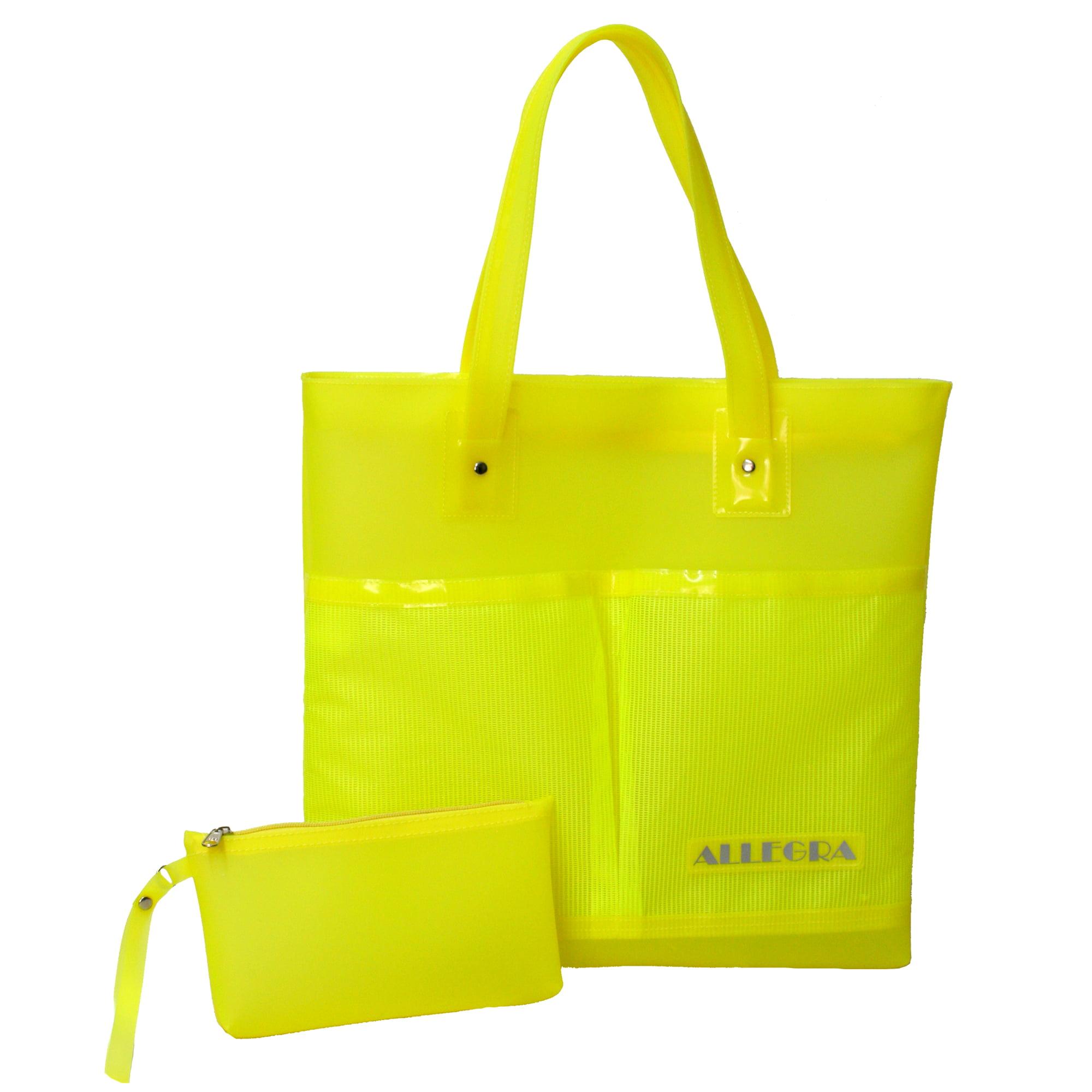 bolsa praia amarela luxo