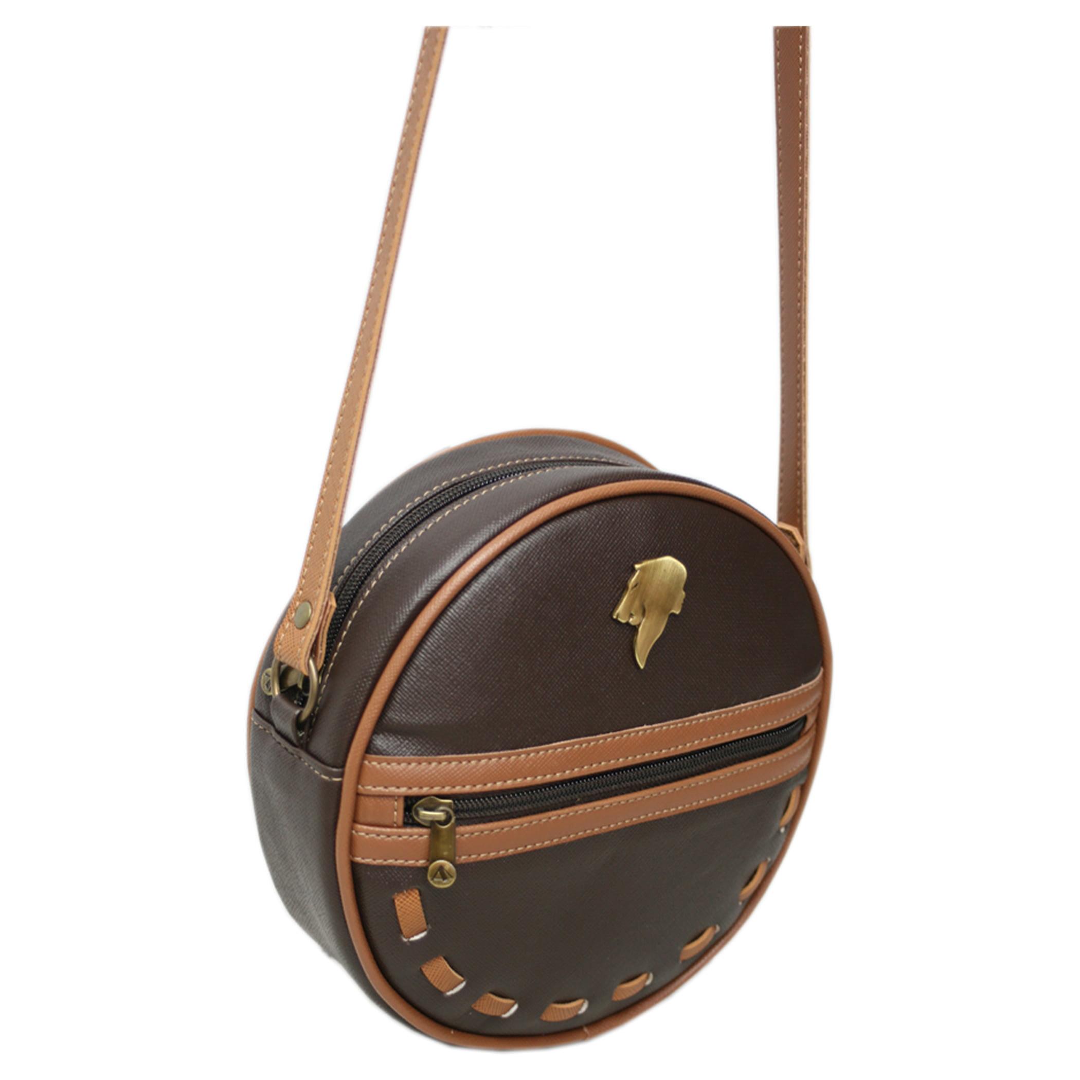 bolsa transversal redonda café Vênus