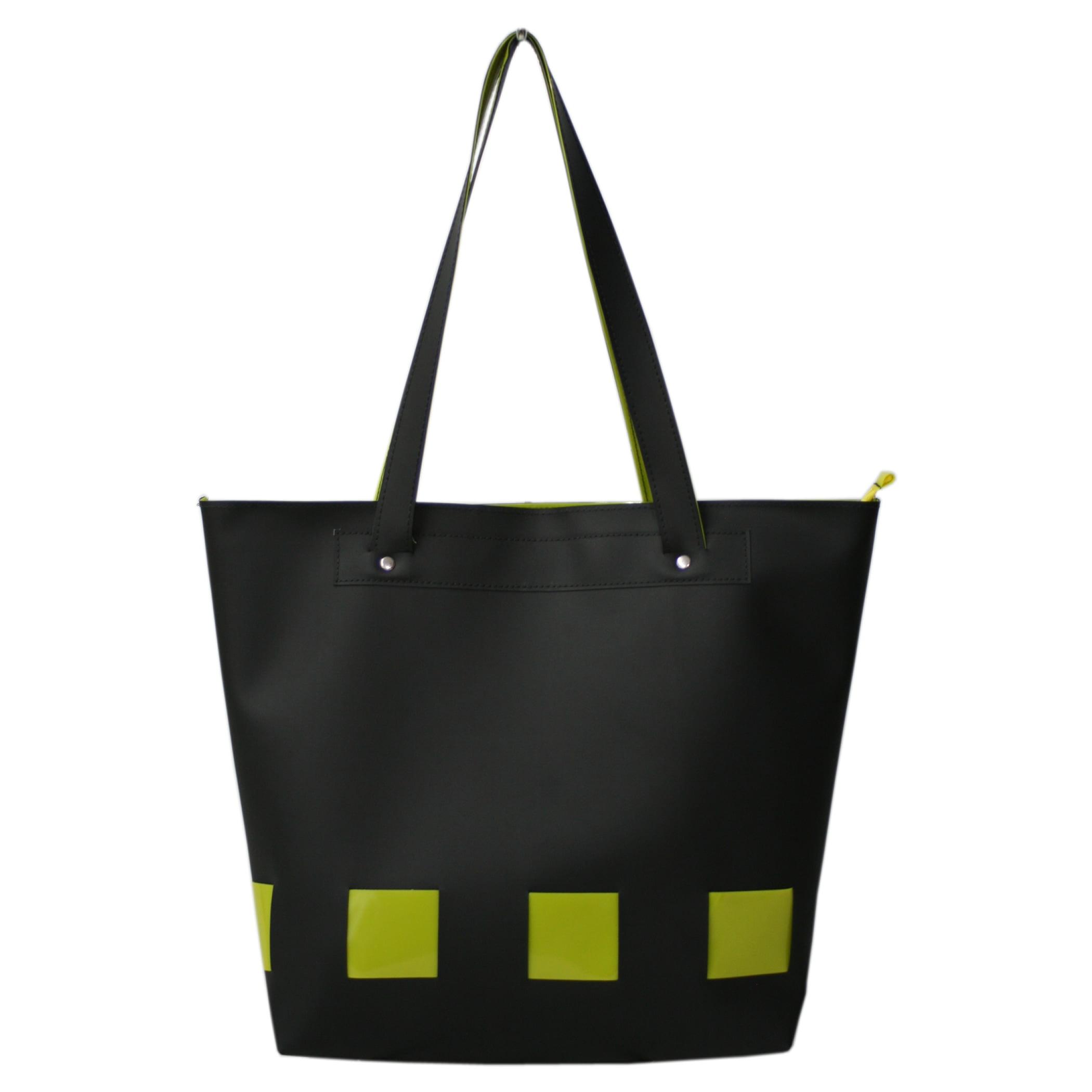 Bolsa de praia Preta e amarela Sitonia