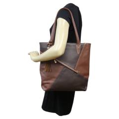 Bolsa sacola de couro Marte Café