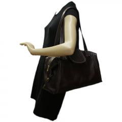Bolsa de viagem em couro bordô Nancy Allegra